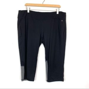 Danskin Now Leggings Sz XXL 2XL Black Grey Fitted